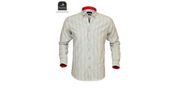 Pánská košile Pontto s barevnými proužky