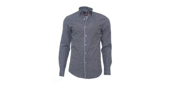 Pánská šedá košile Pontto s jemnou kostkou