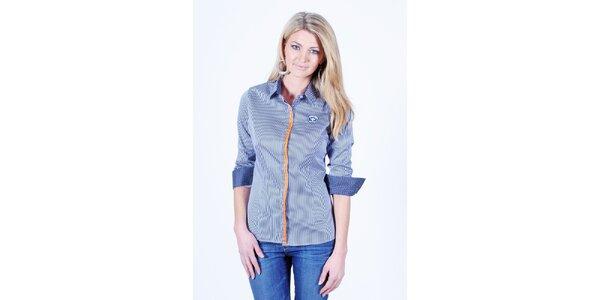 Dámská modro-bílá proužkovaná košile Pontto