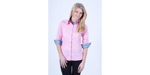 Dámská světle růžová košile s romantickým dekorem Pontto