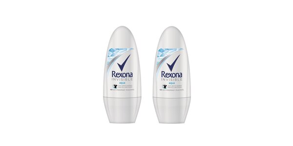 2xRexona deo roll-on invisible Aqua 50ml