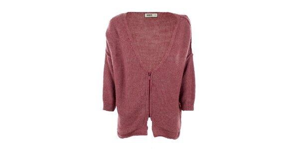 Dámský růžový svetr na zip Big Star