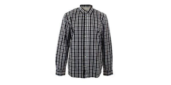 Pánská černá kostkovaná košile Big Star