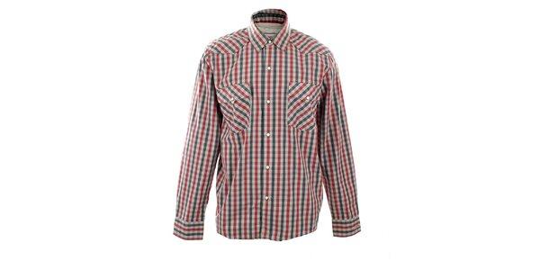 Pánská červenošedá kostkovaná košile Big Star