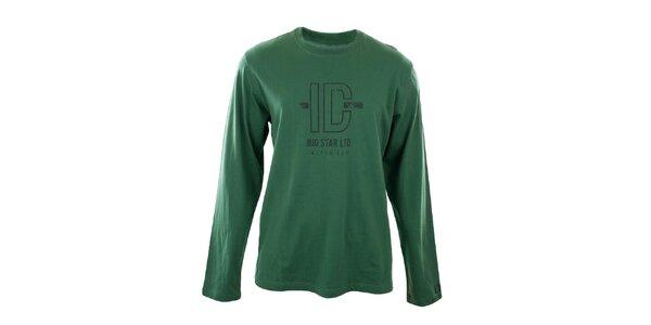 Pánské zelené tričko s potiskem Big Star