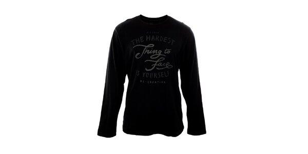 Pánské černé tričko s nápisem Big Star
