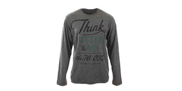 Pánské šedé tričko s nápisem Big Star