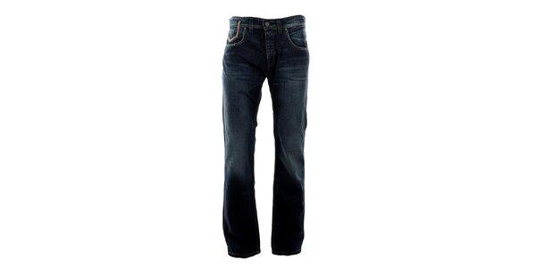 Pánské tmavě modré džíny s šisováním Big Star