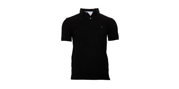 Pánské klasické černé polo tričko Tommy Hilfiger
