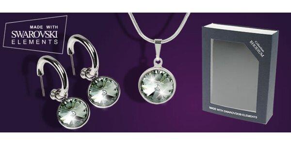 Set řetízku a náušnic s krystaly Swarovski