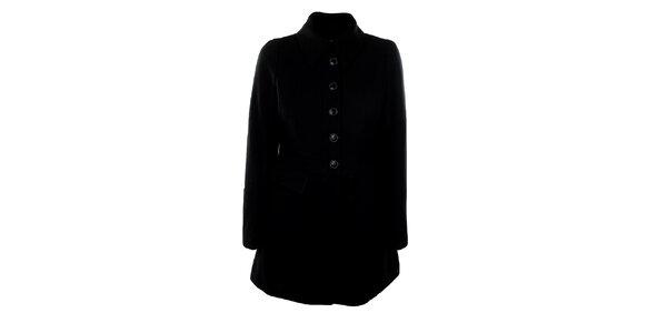 Dámský vlněný černý kabát Big Star