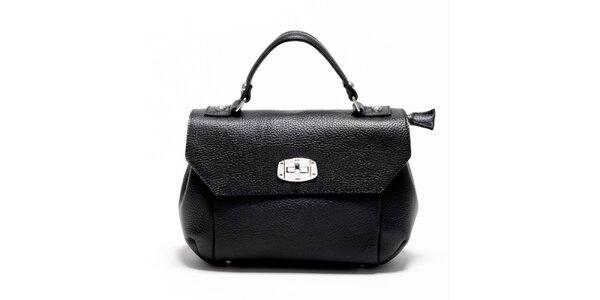 Dámská černá kabelka s odepínatelným popruhem Carla Ferreri