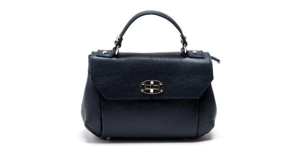 Dámská modrá kabelka s odnímatelným popruhem Carla Ferreri