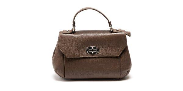 Dámská hnědá kabelka s odnímatelným popruhem Carla Ferreri