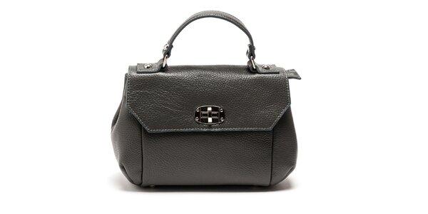 Dámská šedá kabelka s odnímatelným popruhem Carla Ferreri