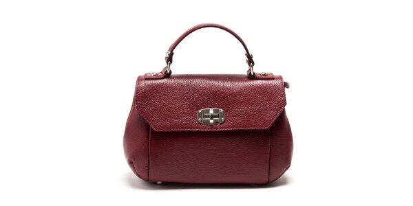 Dámská červená kabelka s odnímatelným popruhem Carla Ferreri