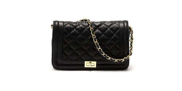 Dámská černá kabelka s řetízkovým popruhem Carla Ferreri