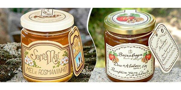 Prvotřídní džemy a med z Portugalska dle výběru