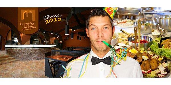Silvestrovská oslava s rautem v restauraci U Rytíře Jakuba z Kunratic