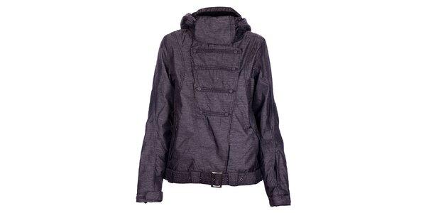 Dámská zimní tmavě šedá melírovaná bunda Fundango s membránou