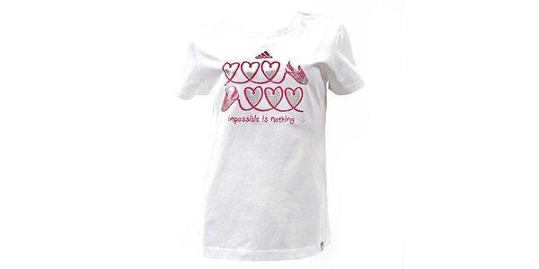 Dámské bílé tričko s potiskem Adidas