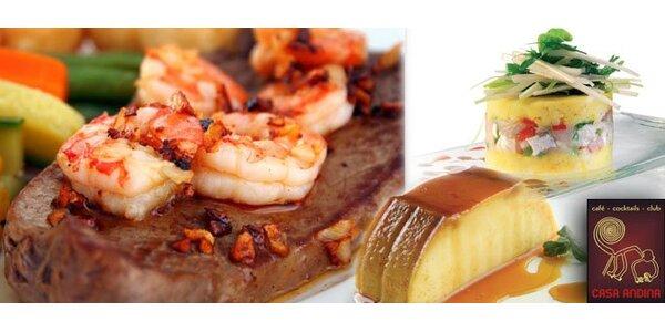 499 Kč za peruánské menu pro DVA v restauraci Casa Andina. Sleva 57 %!