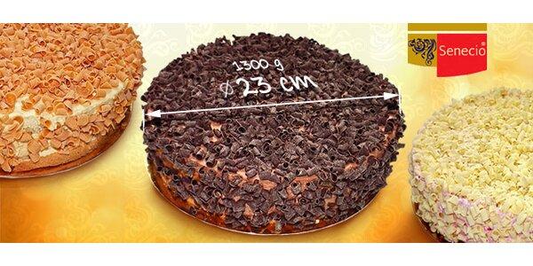 Dort čokoládový, karamelový nebo ovocný