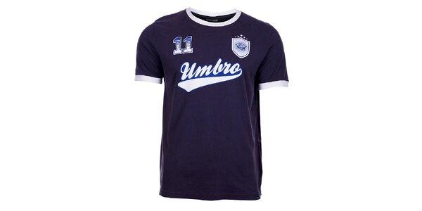 Pánské tmavě modré tričko Umbro s potiskem