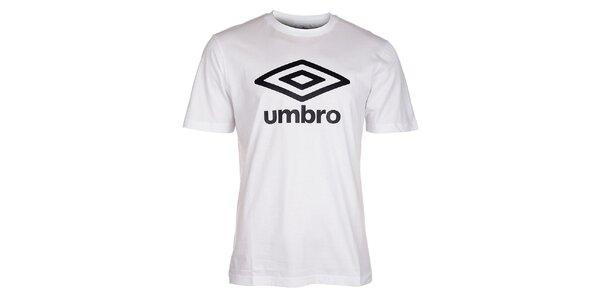 Pánské bílé tričko Umbro s černým logem