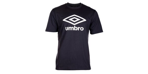 Pánské antracitové tričko Umbro s bílým logem