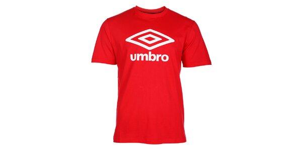 Pánské červené tričko Umbro s bílým logem