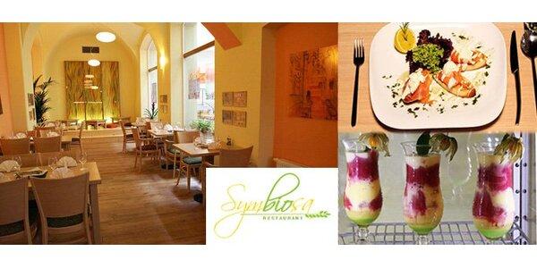 340 Kč za speciální menu restaurantu Symbiosa v hodnotě 680 Kč. Sleva 50%.