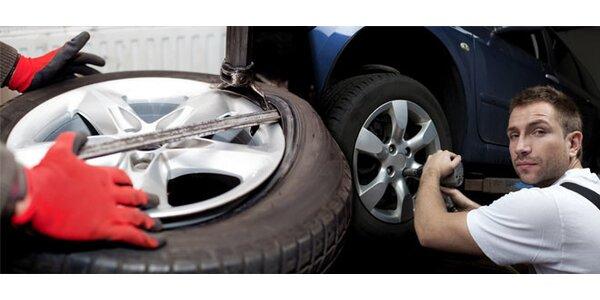 Přezutí pneumatik včetně vyvážení a prohlídky