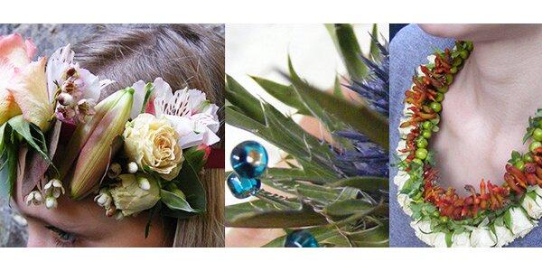Originální květinové šperky