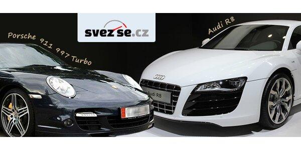 Jízda v nadupaných vozech Porsche 911 Turbo či Audi R8