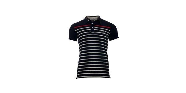 Pánské modré polo tričko značky Bendorff s proužky