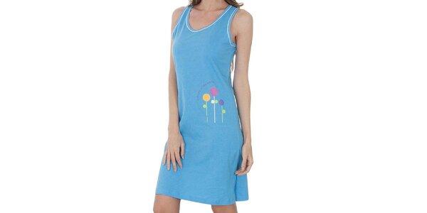 Dámská světle modrá noční košile Cocodream