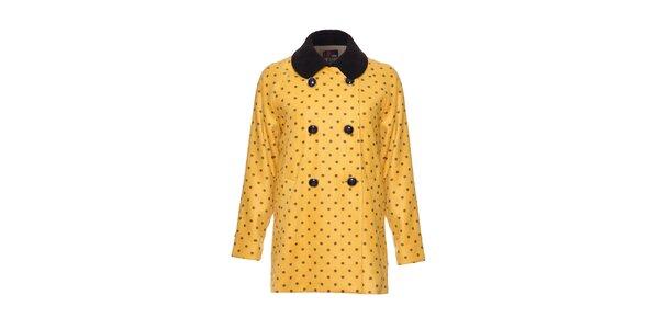 Dámský žlutý puntíkovaný kabátek Yumi