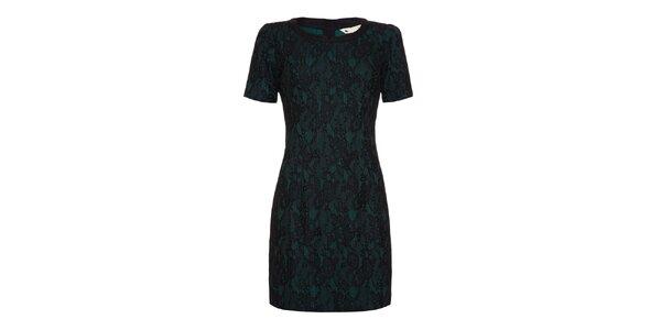 Dámské zelenočerné šaty s krátkým rukávem Yumi