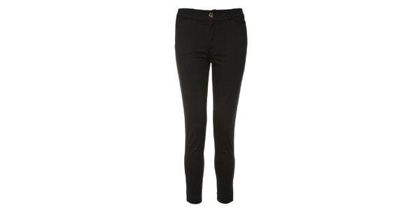 Dámské černé úzké kalhoty Yumi