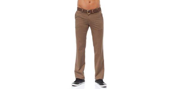 Pánské světle hnědé chino kalhoty Bendorff