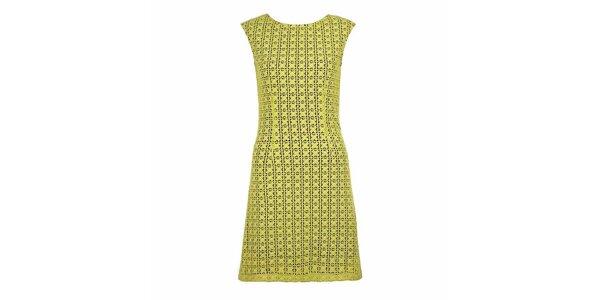 Dámské žlutozelené šaty bez rukávů Yumi