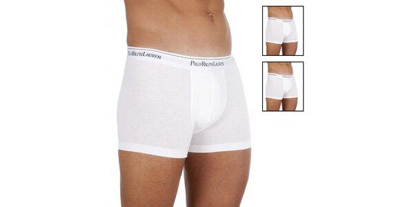 Set tří bílých boxerek Ralph Lauren