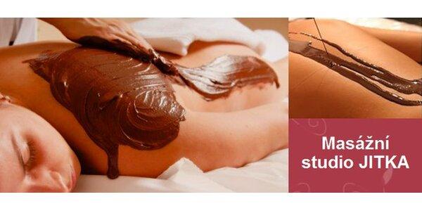 425 Kč za čokoládovou masáž, peeling a zábal celého těla. SLEVA 50%.