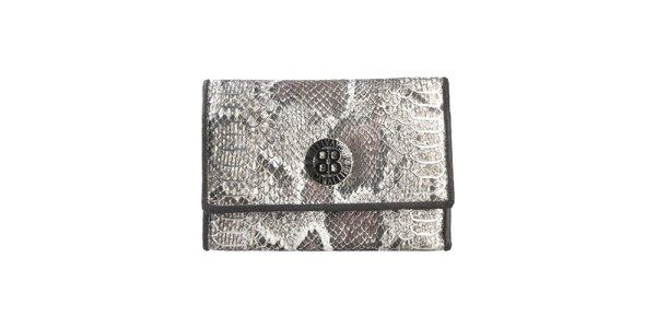 Dámská černá peněženka s motivem hadí kůže Cavalli B.