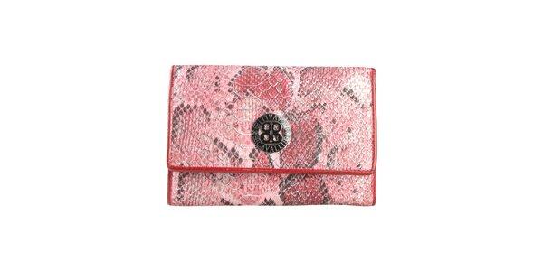 Dámská červená peněženka s motivem hadí kůže Cavalli B.