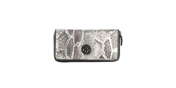 Dámská černá peněženka s hadím vzorem Cavalli B.