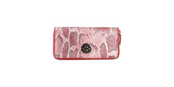 Dámská červená peněženka s hadím vzorem Cavalli B.