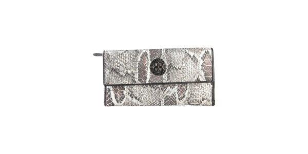 Dámská černá peněženka na patentku Cavalli B. s hadím vzorem