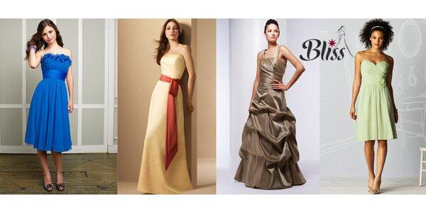 Luxusní společenské šaty Mori Lee a Alfred Angelo